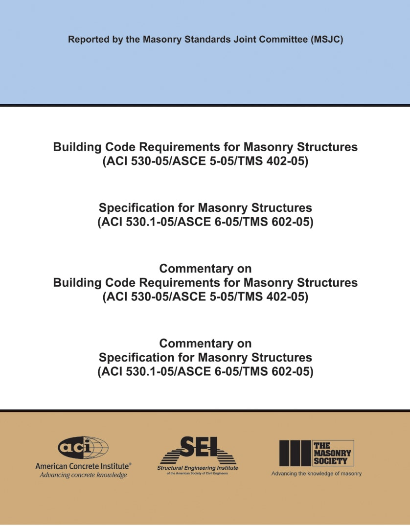 Building Code Requirements and Specification for Masonry ...