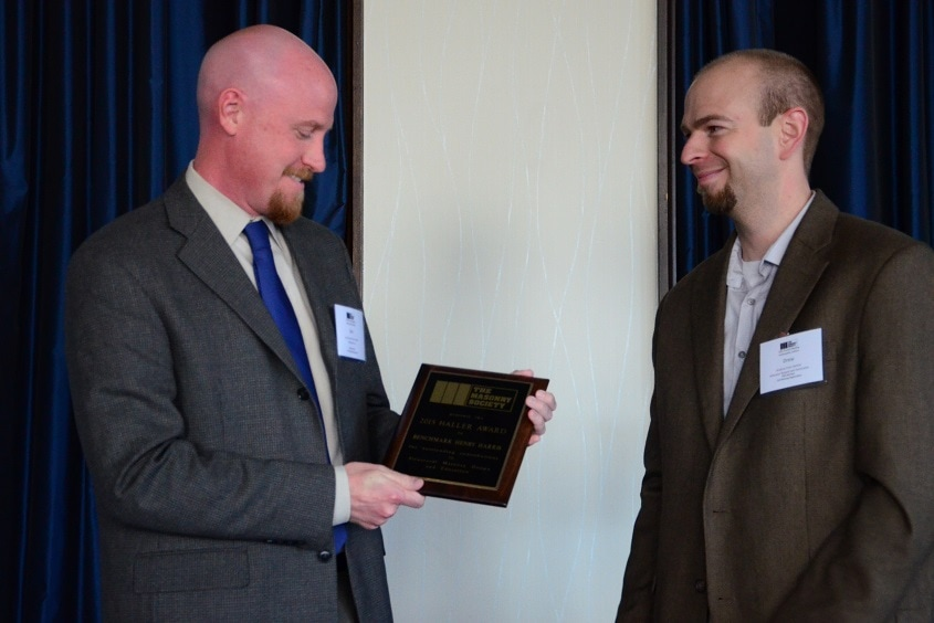 Ben Harris (left) accepts the Award from Drew Geister, Chairman of the DPC.