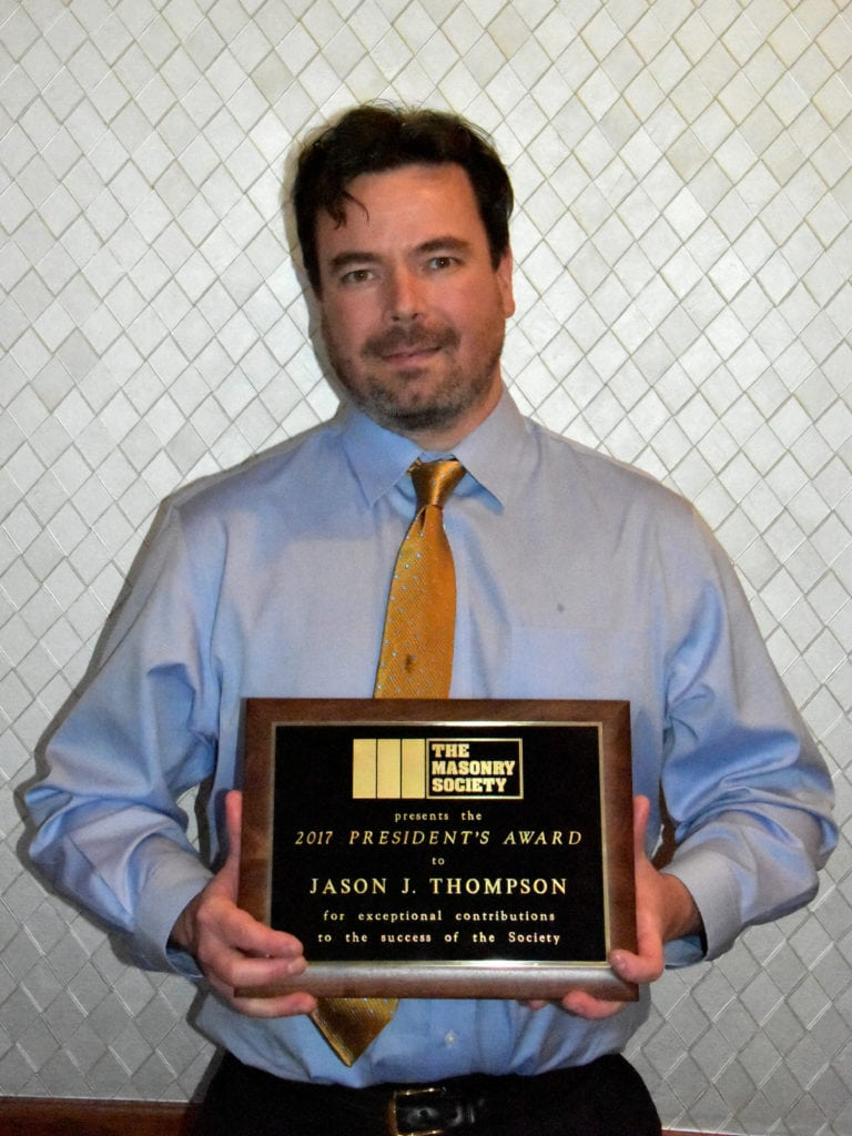 Jason J. Thompson, 2017 President's Award Recipient