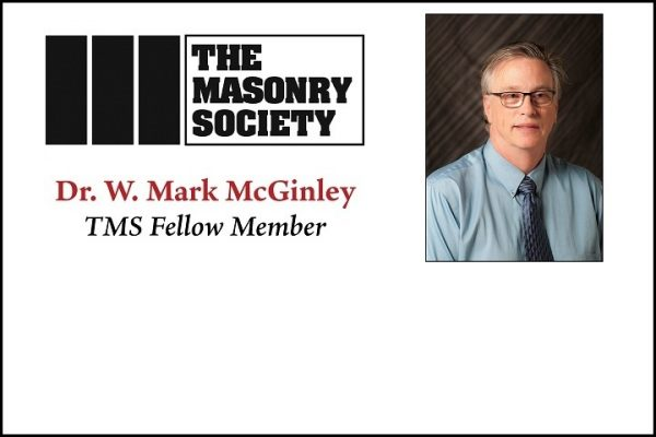 Dr. W. Mark McGinley Named TMS Fellow Member