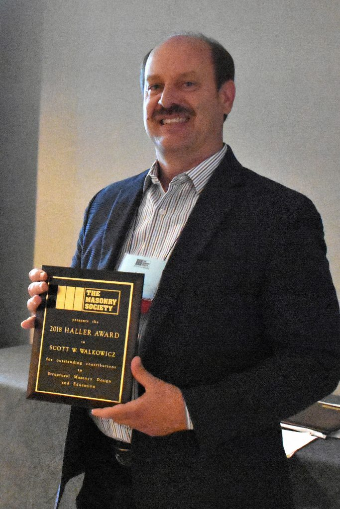 Scott Walkowicz, 2018 Haller Award Recipient