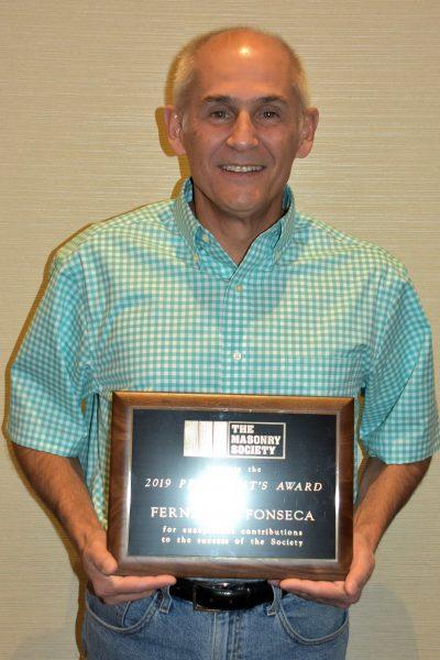 Fernando Fonseca, 2019 President's Award Winner